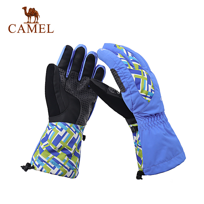 CAMEL camel outdoor sports gloves couple models windproof wear warm ski gloves