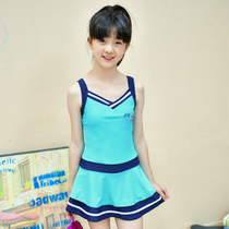 2017 new swimsuit one-piece dress for children-big girls in swimsuits and fresh sports swimwear 0741