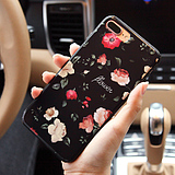 Newfor Apple 7plus mobile phone shell mirror silicone drop iphone7 porcelain personality seven men and women set