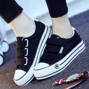 2017 new spring Velcro canvas shoes shoes all-match increased a lazy female Korean students' shoes