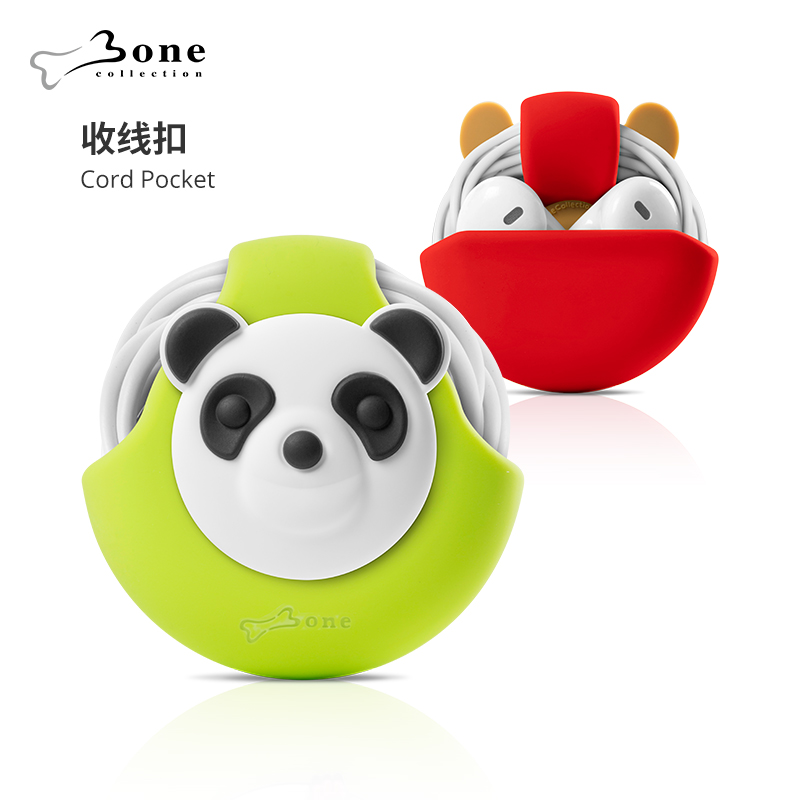 Bone 〡克〡收线扣 Eco-friendly silicone Cute doll Headphone cable holder Easy to carry