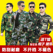 Long camouflage suit male summer uniform female military service men jungle commando field wear overalls