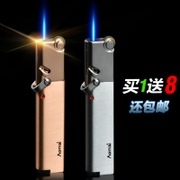 Aomais Aomai windproof lighter metal wheel into the blue flame inflatable thin personality convenient custom lettering