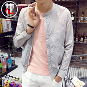 Young man coat jacket thin summer s casual trend student sunscreen clothes spring baseball uniform