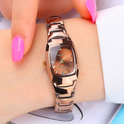 South Korean female students watch rose gold Korean fashion retro minimalist lady quartz watch waterproof bag mail
