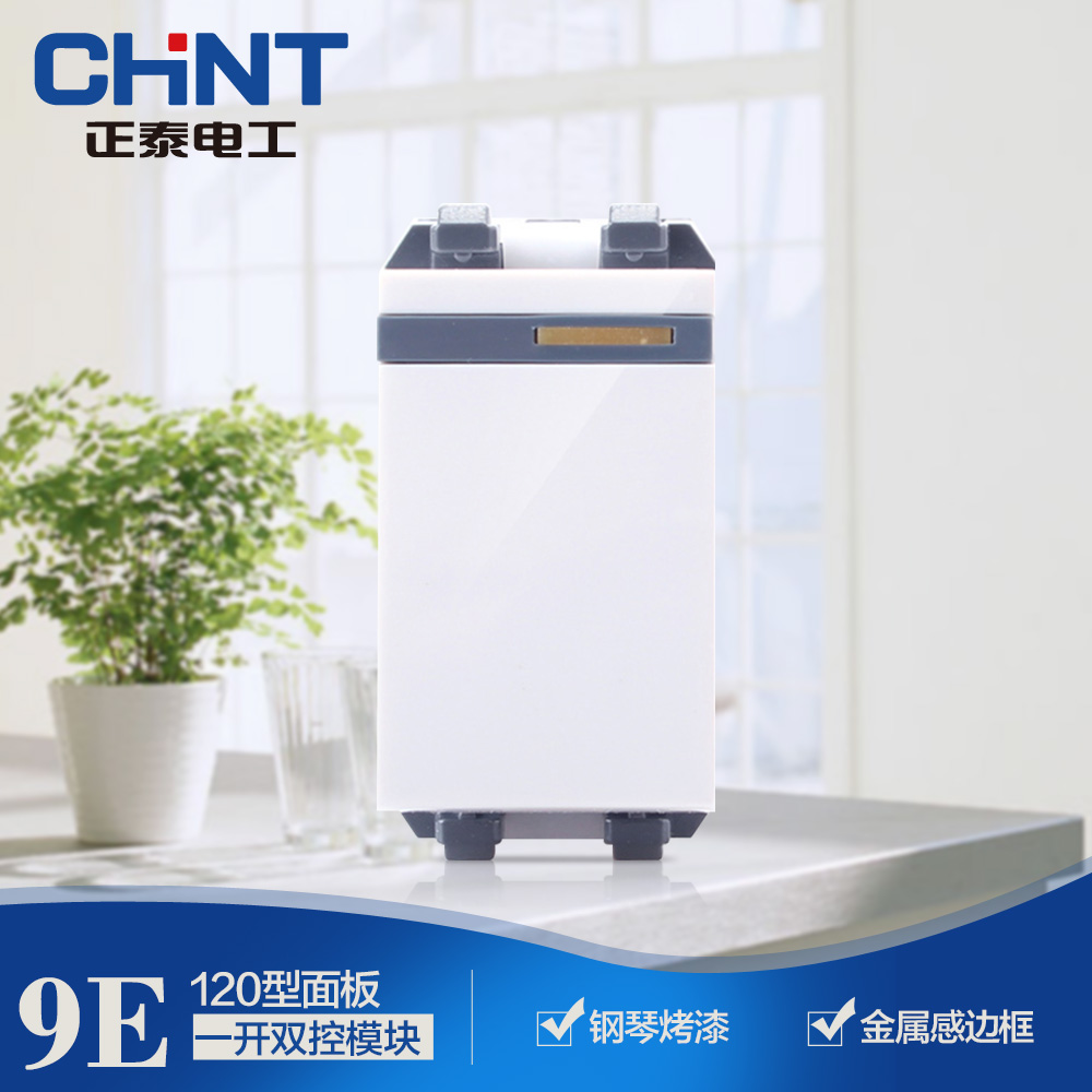 CHINT Switch Socket Type 120/Chint Socket/NEW9-E904/ CHINT Small One Open Dual Control Module