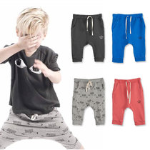 Summer 1-4 of foreign trade childrens clothing pants baby PP pants harem pants of seven for boys pants boys trousers
