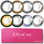 2 diameter cosmetic contact lenses year behind Korean small black black grey mixed color contact glasses