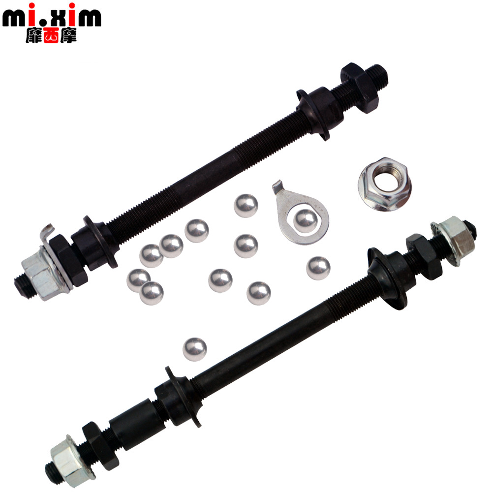 Bicycle mountain bike solid shaft rear axle ball hub shaft shaft shaft shaft shaft screw rod with bead gear