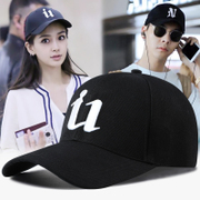 Hat man summer baseball cap female leisure Korean tide all-match black youth sun visor cap peaked cap