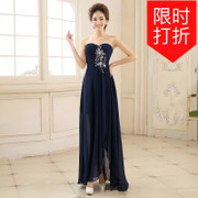 The 2016 new slim cocktail dress bridesmaid dress female long lace dress and elegant luxury