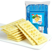 Tmall supermarket Aji salt soda biscuit yeast reduced 472.5g breakfast with milk is low in sugar and salty snacks Z