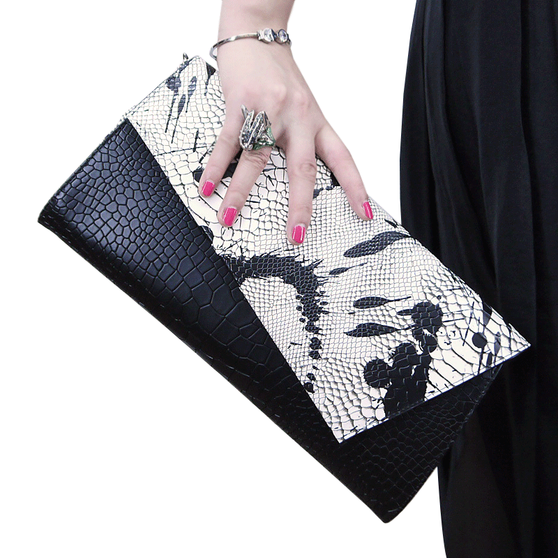 New genuine leather handbag, cowhide crocodile pattern handbag, lady one shoulder slanting bag