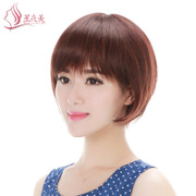 I really beautiful hair wig hair hair hair female Bobo female head wave Qi Liu human hair