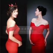 For pregnant women fashion big European dress photo portrait photography studio art photo pregnancy dress 132