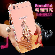 OPPOA59m OPPOA59 phone shell protection sleeve shatter-resistant metal rhinestone frame A59tm mirror ring ladies