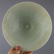 The Song Dynasty celadon carved Yin Hutian kiln pattern of antique porcelain bowl hats worn Home Furnishing decoration supplies
