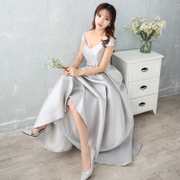 The new 2017 new summer dresses in Korean long sisters banquet evening dress dress female graduation