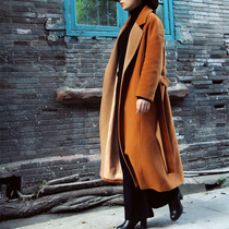 Colour matching with original new traveler wool coat womens retro atmosphere has all the designer brands