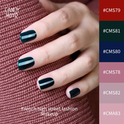 Dark green nail polish vintage wine red sapphire blue gray strippable non-toxic tearing