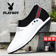 The increase in men's casual shoes dandy summer Shoes Mens White Leather shoes breathable shoes all-match
