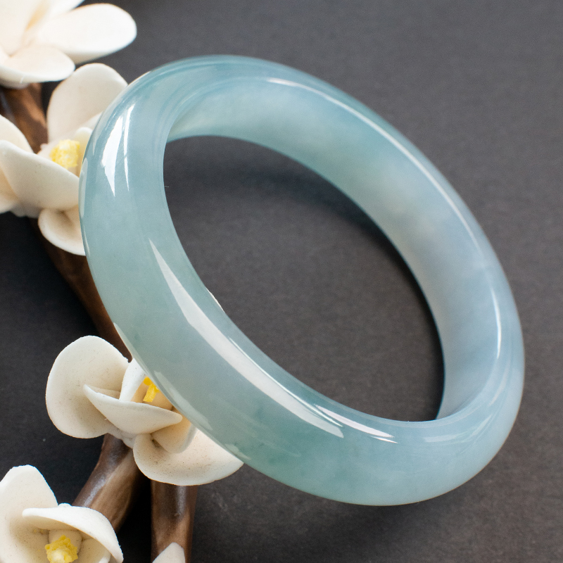 Non feather jewelry Laokeng Myanmar A-product jadeite bracelet natural jade floating flower jadeite ----- 9200 special photo link