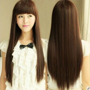 Selling female wig long straight hair CD long hair fluffy dressing cross-dressing repair face artifact handsome wig wig