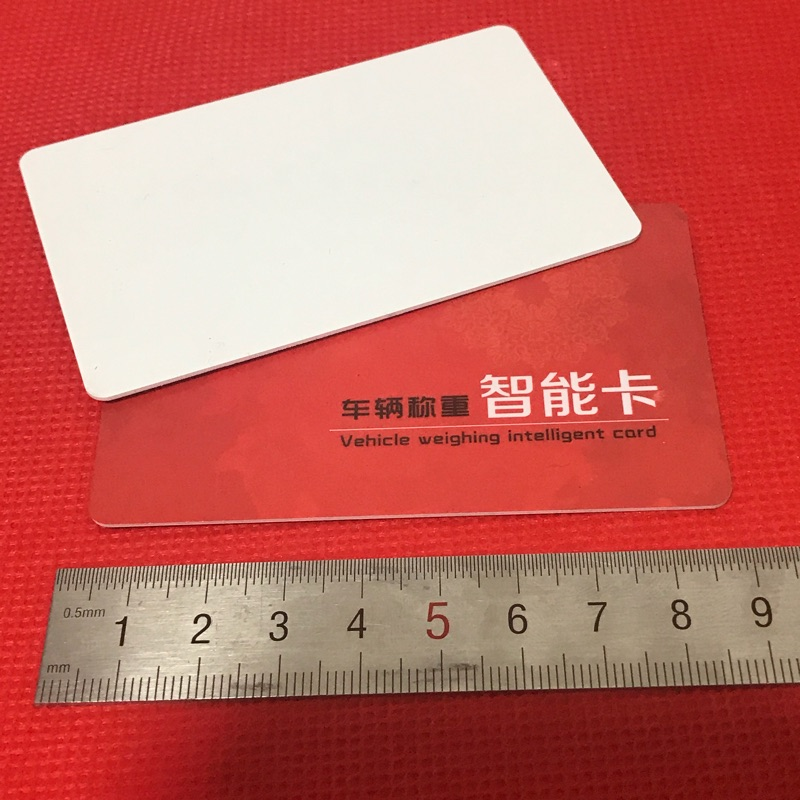 RFID UHF 6C passive long distance 915M electronic tag vehicle windshield card 9662 white card big card