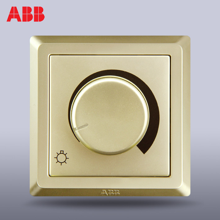 ABB switch panel socket Deyi pearl gold knob dimming switch AE412-PG