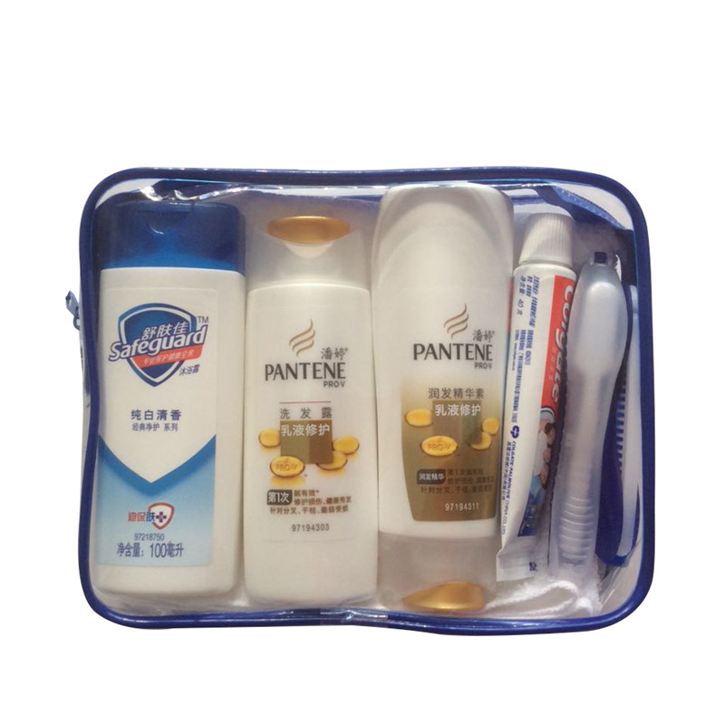 Pantene travel wash kit with shampoo shower gel toothpaste tourism travel convenient toiletries toiletries bag
