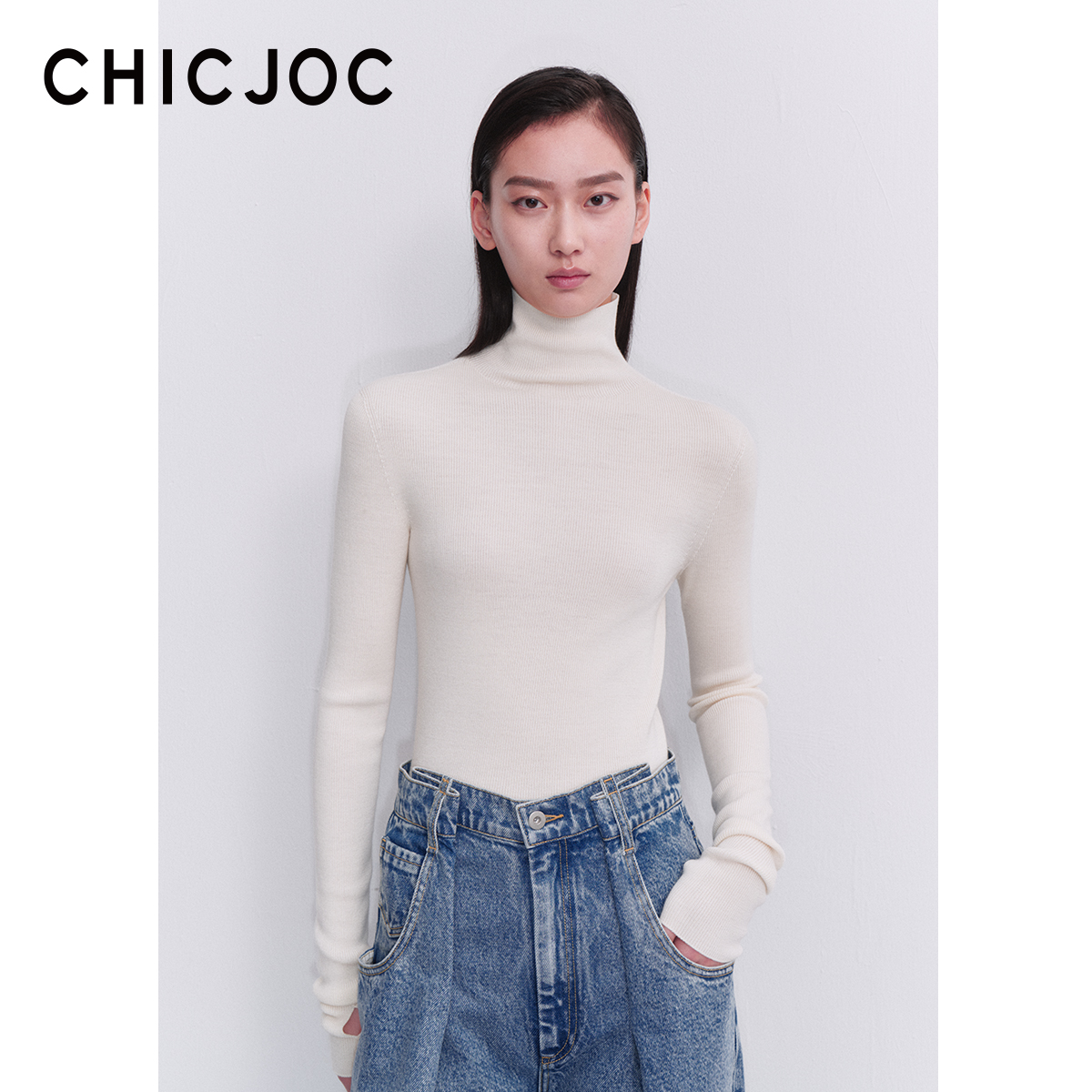 CHICJOC word-of-mouth 120 pairs of special thick - Yangzi OTW Japan seamless full-form high-necked wool bottoms