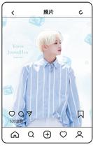 Star autour de la coréen en trois dimensions raster carte de conversion carte postale main-posé carte dembarquement sur mesure