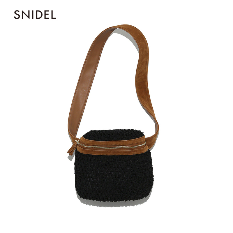 SNIDEL 2009 Spring and Summer New Personality Braided Zipper Single Shoulder Waist Bag Skew Span Bag SWGB191608