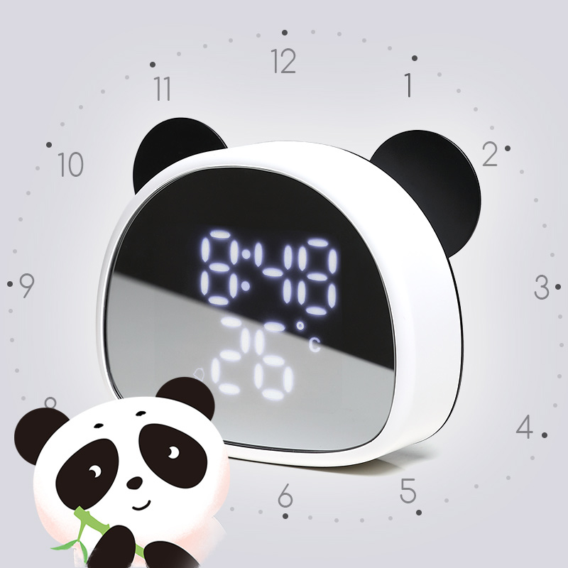 Electronic alarm clock pupils use children's cartoon cute alarm clock bedside creative personality lazy voice super big boy
