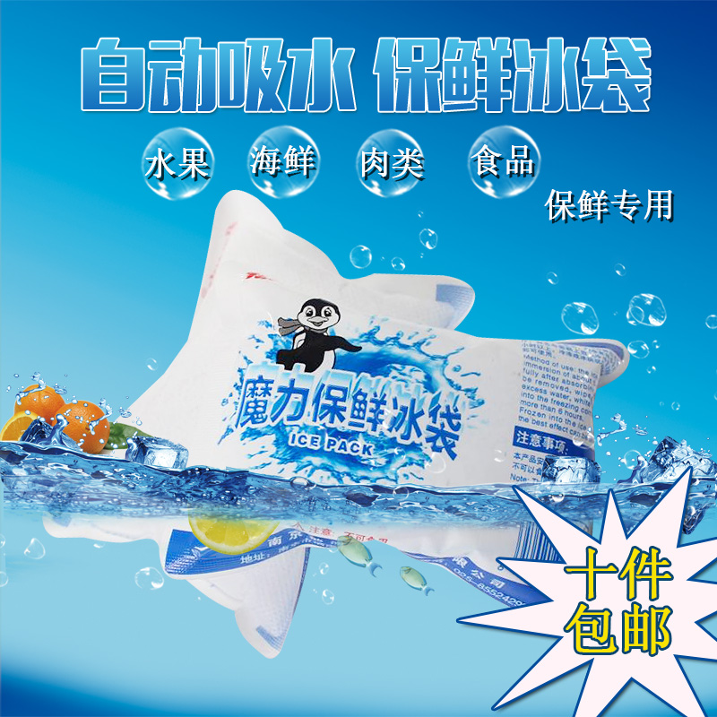 Magic Technology Aviation Ice Pack Seafood Fruit Food Refrigerated Fresh Non-Water Dry Ice Bag Large