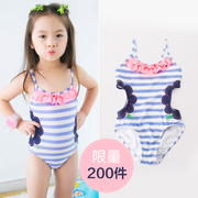 3 children 4 girls Swimsuit Swimwear girls flowers 5 - 6 hollow baby swimming suit at the age of 7