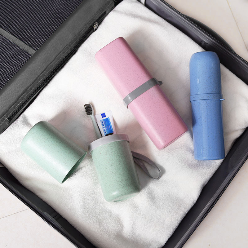 Environmentally friendly travel supplies wash cup portable set wash bag storage towel toothpaste toothbrush box mouth cup travel