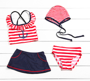 Korean Swimsuit Bikini children split 4 Piece Swimsuit