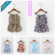 Summer dresses infant suit vest suspenders 6 months old female baby bourette set 0-1-2-3-4