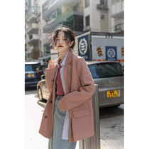 Mingding casual suit jacket womens spring and autumn suit jacket autumn early autumn new small man autumn black white gray