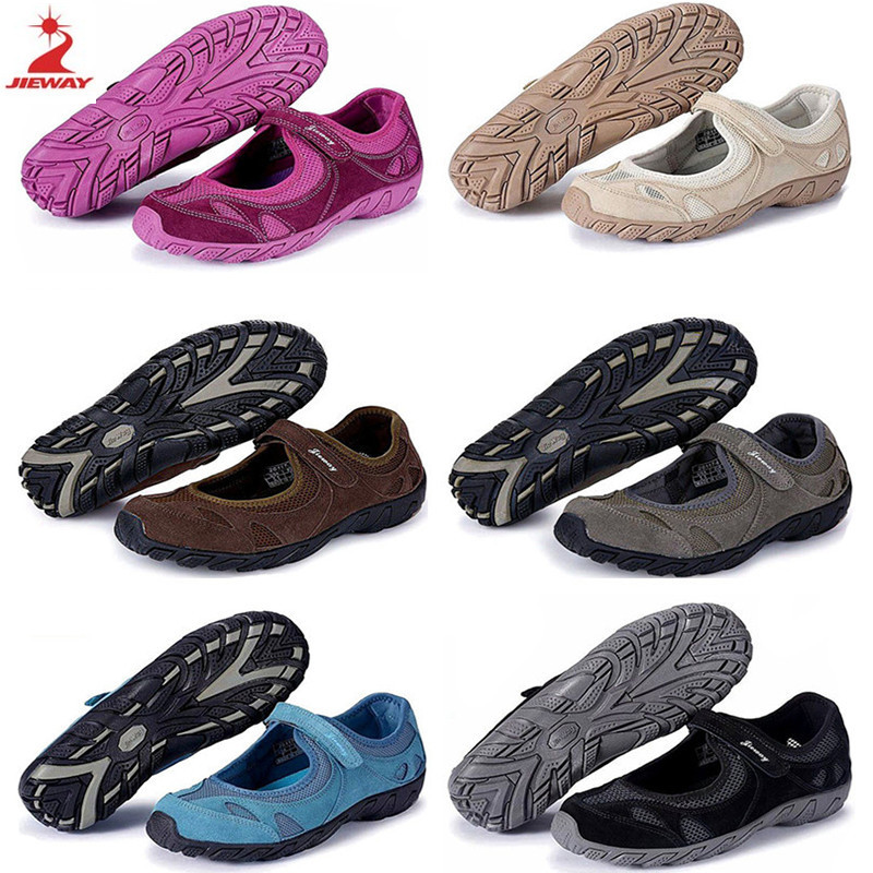 Jieway Gateway Summer Breathable Mesh shoes Outdoor Mom shoes Light Travel Shoes Hiking Non-slip Hiking shoes
