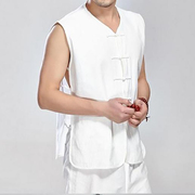 Old coarse cotton Vest Jacket costume male Chinese summer wind, China Kanjian old loose vest