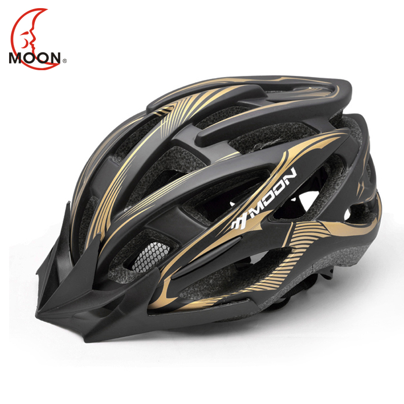 Moon bicycle riding road bike helmet mountain bike riding helmet integrated molding sports riding equipment