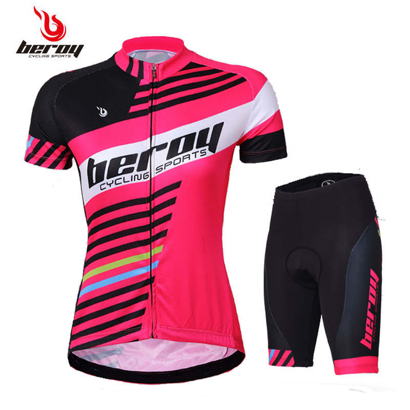 Women's Jersey Short Sleeve Cycling Set Summer Spinning Bike Clothing Breathable Perspiration Quick-drying Bicycle Clothes