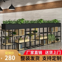 Iron restaurant partition decorative flower rack office rack industrial wind deck Green Fence low partition screen