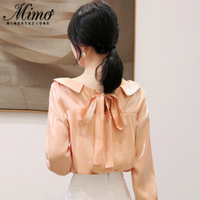 Chiffon shirt early autumn women's autumn dress new trend 2019 autumn net red long sleeve jacket early autumn style