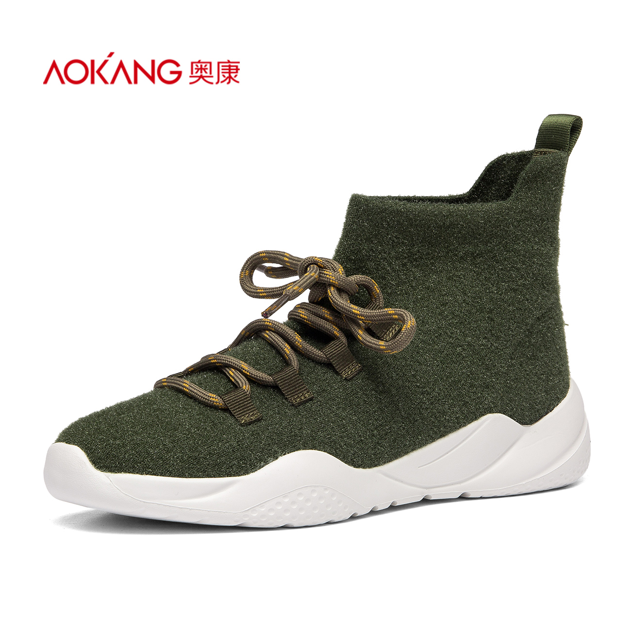 [AOKANG] women's shoes are round and fly up to fashion women's shoes in autumn.