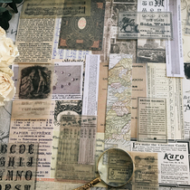 JunkJournal retro TN PDA material wove paper old posters old newspapers book pages mixed