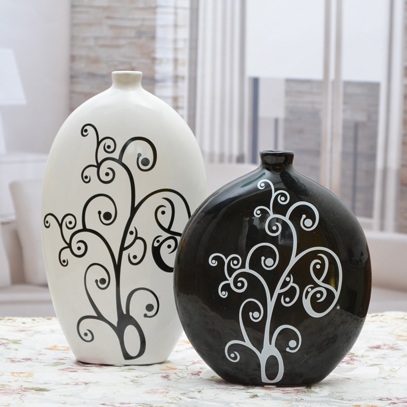 Handsome, home furnishings, ceramic, fashion, simple, home furnishings, ornaments, silent vases.