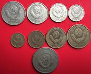 Post Soviet set 9 Coins Set of Russia after World War II European foreign coins commemorative coins